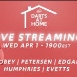 LIVE DARTS: #DartsAtHome toernooi met 5 PDC-spelers